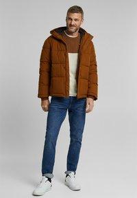 Esprit - BASIC PUFFER - Winter jacket - toffee - 1