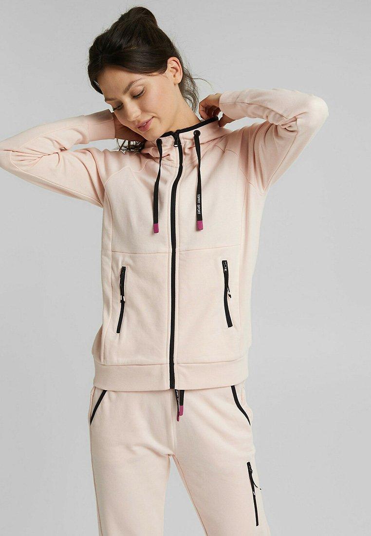 Esprit Sports - KAPUZEN - Zip-up hoodie - peach