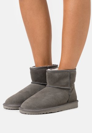 LEATHER - Bottes de neige - grey