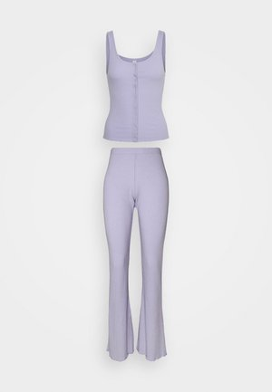 BUTTON DOWN PANT SET - Pyjama set - chalky lavender