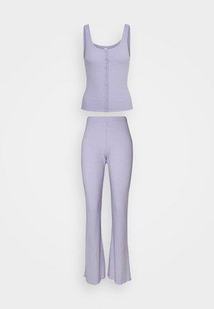 BUTTON DOWN PANT SET - Pyžamová sada - chalky lavender