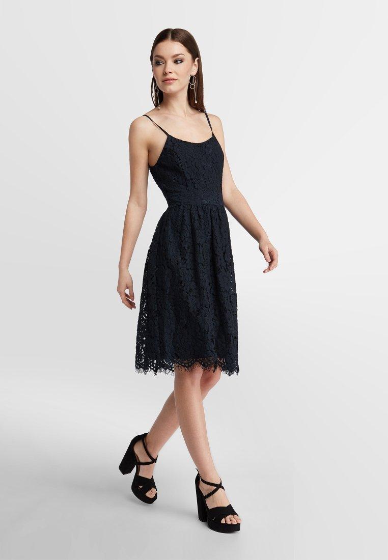 ZWEITEILIGES SPITZENENSEMBLE - Cocktailkleid/festliches Kleid - dark blue