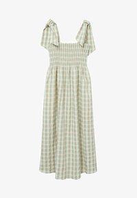 Mango - MED VICHY-RUTER - Day dress - havgrønn - 5