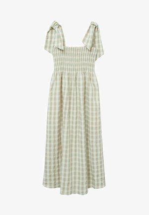 MED VICHY-RUTER - Denní šaty - havgrønn