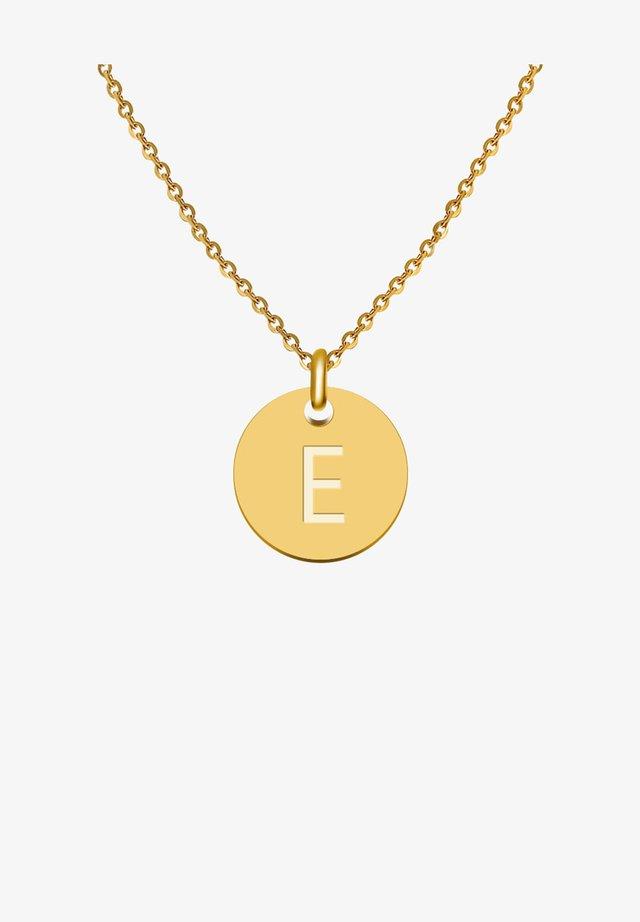 BUCHSTABE E - Collier - gold