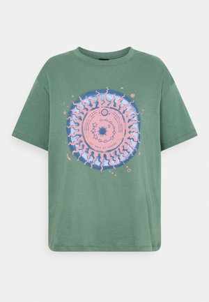 DREAMY TEE - Print T-shirt - green