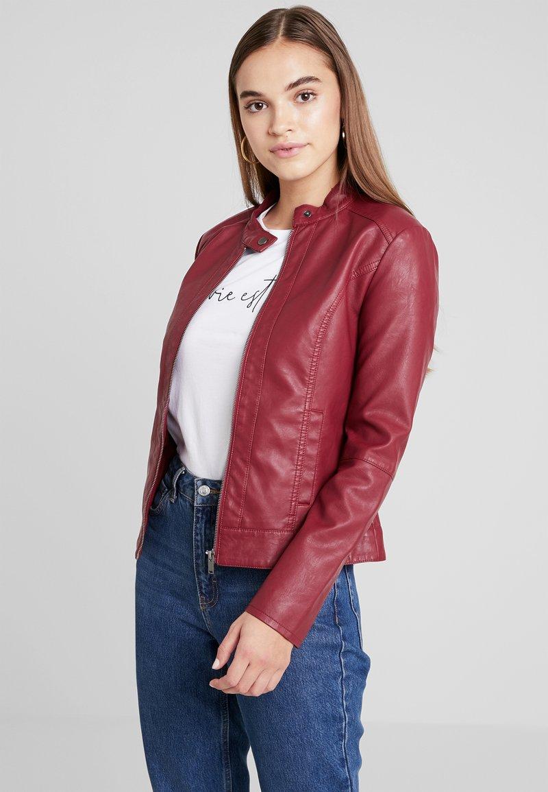 JDY - JDYDALLAS JACKET - Faux leather jacket - pomegranate