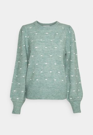 BYMARTINE SMALL DOT - Jumper - blue surf mix