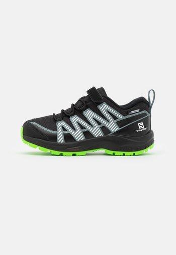 XA PRO V8 CSWP UNISEX - Hiking shoes - black/black/neongreen