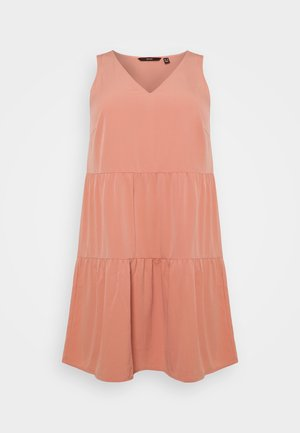 VMOLIVIA PEPLUM DRESS  - Korte jurk - old rose