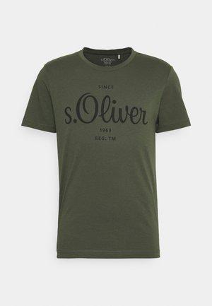 Triko spotiskem - khaki/oliv