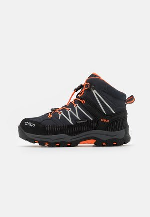 KIDS RIGEL MID SHOE WP UNISEX - Hiking shoes - antracite/flash orange