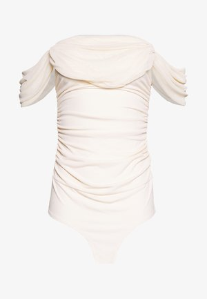OFF SHOULDER BODY - Print T-shirt - off white