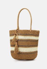 Pieces - PCLEONA SHOPPER - Tote bag - birch - 0