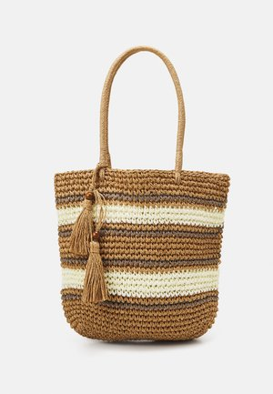 PCLEONA SHOPPER - Shopping bag - birch