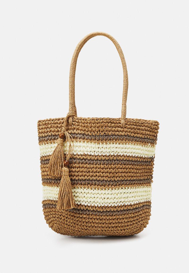 Pieces - PCLEONA SHOPPER - Tote bag - birch