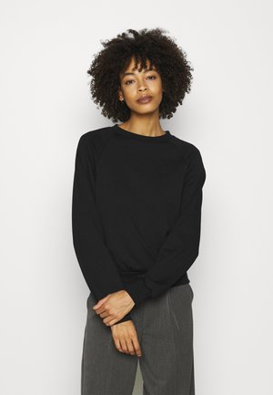 BASIC CLEAN  CREW NECK SWEATSHIRT  - Collegepaita - black