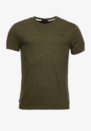 OL VINTAGE EMB  - T-shirt - bas - winter khaki grit