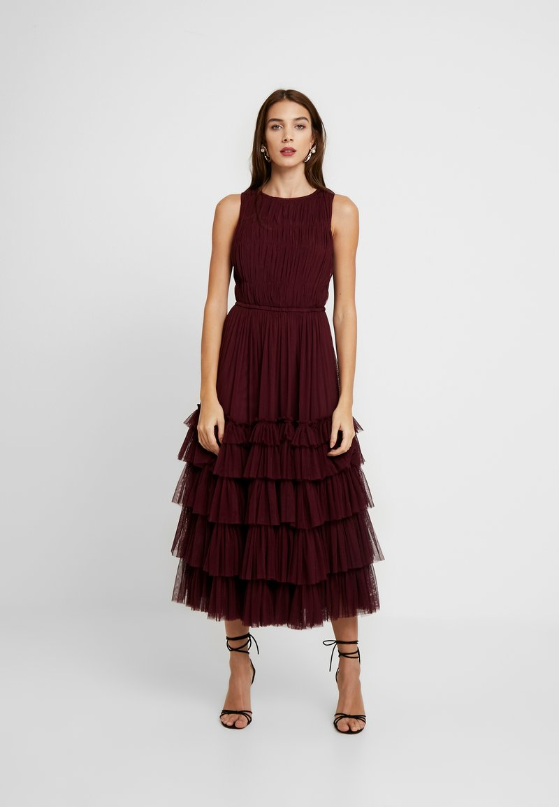 Lace & Beads - MEL MIDI - Cocktail dress / Party dress - burgundy