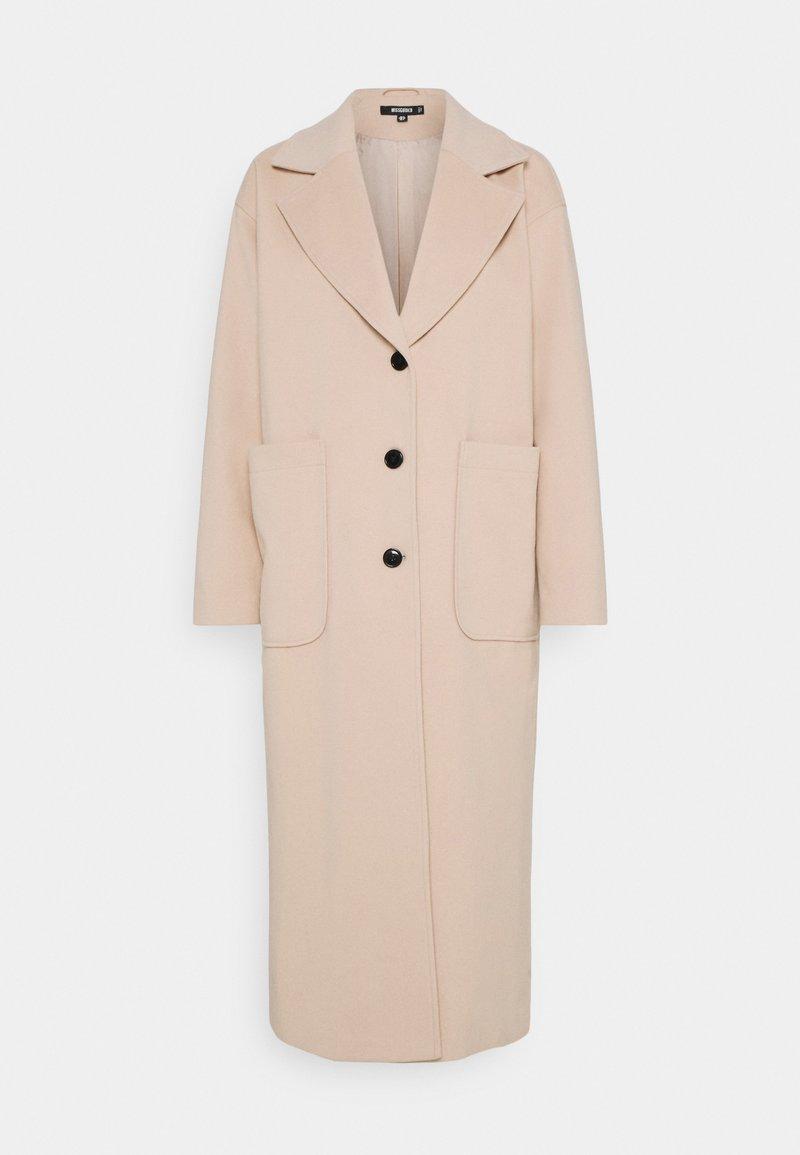 Missguided - LONGLINE - Klasický kabát - cream