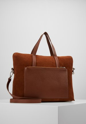 LEATHER - Aktetas - cognac
