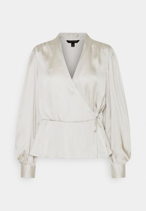 TIE WRAP BLOUSE SOFT - Bluser - selenite