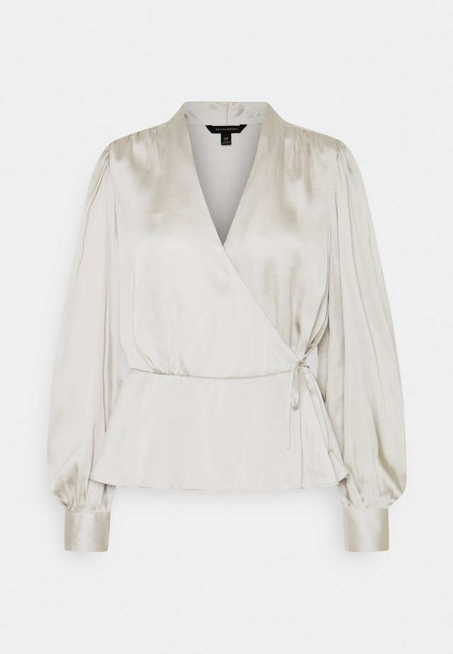 TIE WRAP BLOUSE SOFT - Blouse - selenite