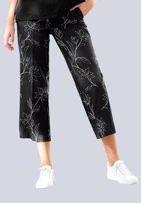 Alba Moda - Trousers - schwarz,off-white - 2