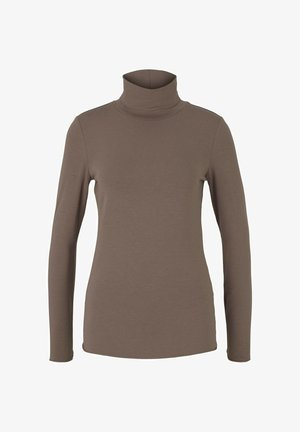 Long sleeved top - rusty brown