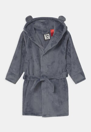 BOYS HOODED LONG SLEEVE GOWN - Dressing gown - steel
