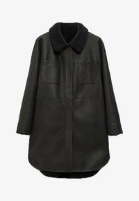 Massimo Dutti - Faux leather jacket - dark grey - 3