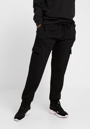 LADIES CARGO PANTS - Tracksuit bottoms - black