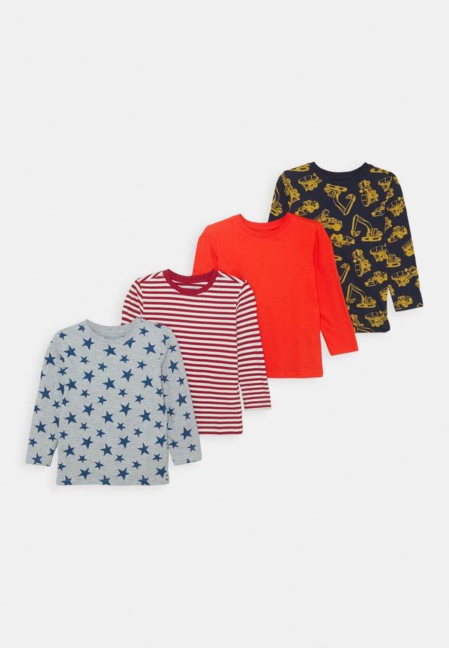 4 PACK - T-shirt à manches longues - red/dark blue/light grey
