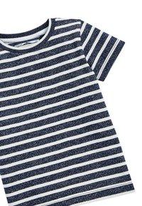 Next - NAVY/WHITE SHORT SLEEVE STRIPED T-SHIRT (3MTHS-7YRS) - Print T-shirt - blue - 2