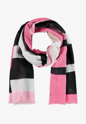 Scarf - pink, black, white