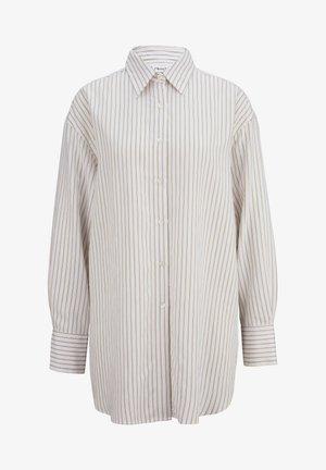 Button-down blouse - snow ivory black
