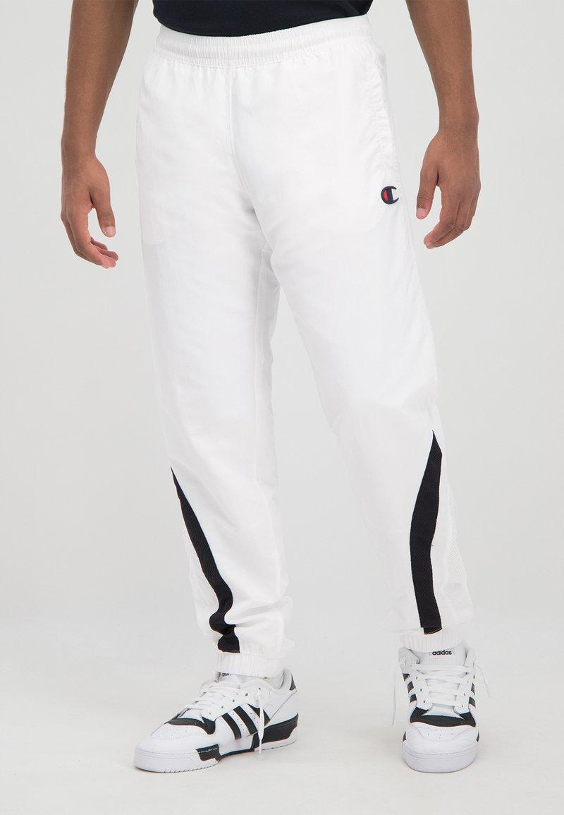 Champion Rochester - ROCHESTER - Tracksuit bottoms - white/black/white