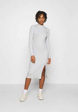 HIGH NECK MIDI DRESS - Shift dress - light grey