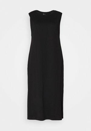 VMEDEN CALF DRESS CURVE - Jerseykjoler - black
