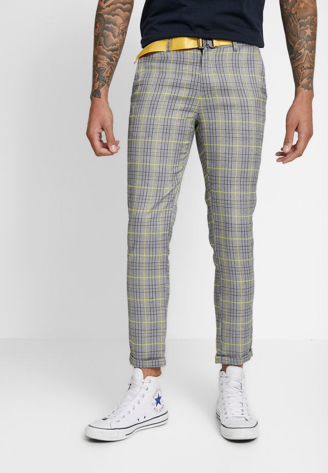 WALES PANTS WITH BUCKLE - Pantalones - grey