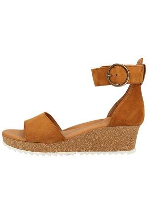 Wedge sandals - mittelbraun 46