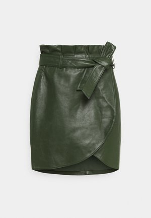 BAILA - Mini skirt - khaki leather