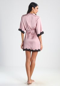 Anna Field - Dressing gown - pink/black - 2