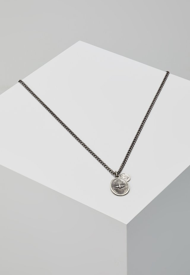 DOVE PENDANT - Necklace - oxidized silver-coloured