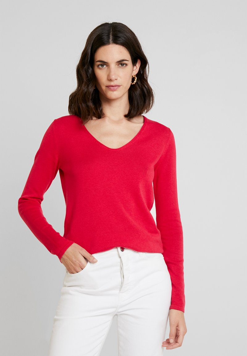 TOM TAILOR - SWEATER BASIC V-NECK - Sweter - dawn pink