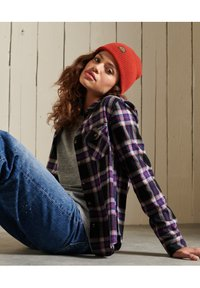 Superdry - CLASSIC - Button-down blouse - hatton check navy - 3