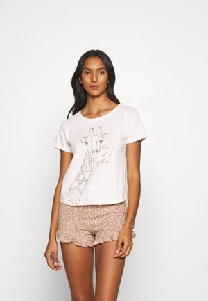 NOT AT MY LEVEL TEE SHORT  - Pyjamas - oatmeal
