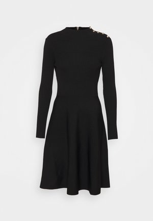JOSEY - Strickkleid - black