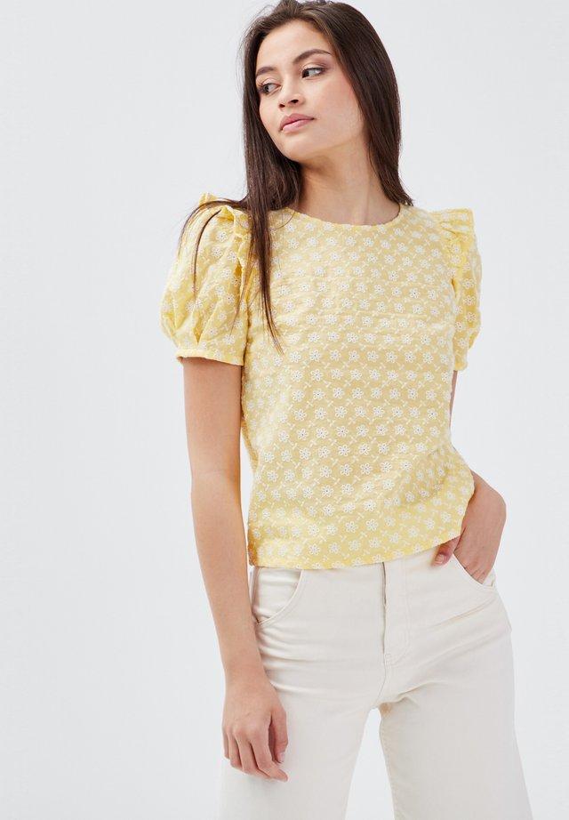 Bluse - jaune clair