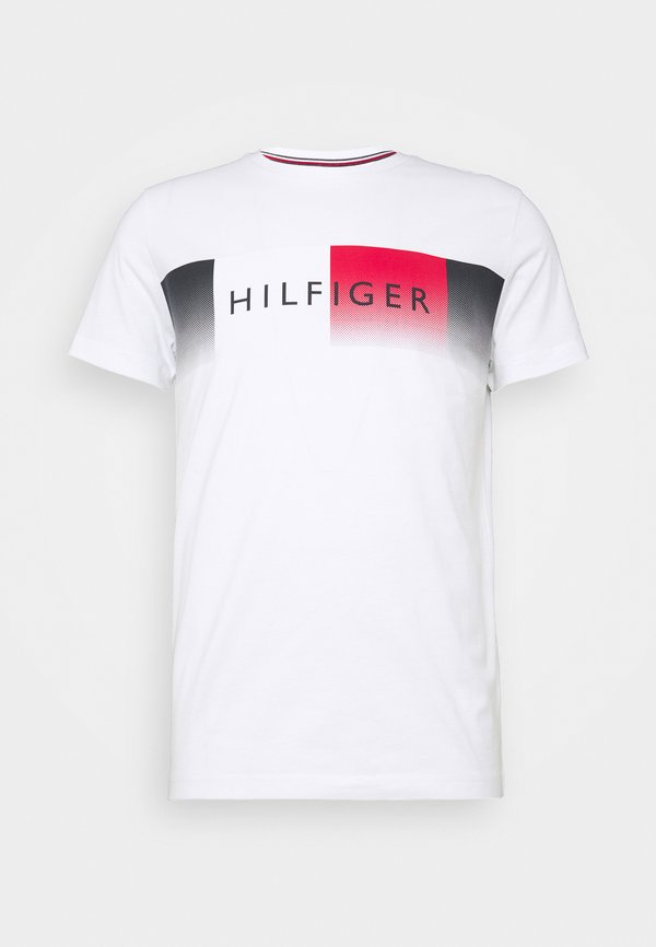 Tommy Hilfiger TH COOL - T-shirt z nadrukiem - white/biały Odzież Męska NMZL
